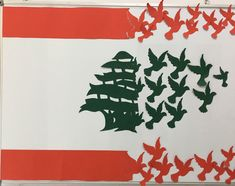 Lebanon Independence Day, Independence Day Drawing, Independence Day Activities, Independence Day Decoration, Lebanon Flag, Art For Kids, Crafts For Kids, Paper Art, Paper Crafts