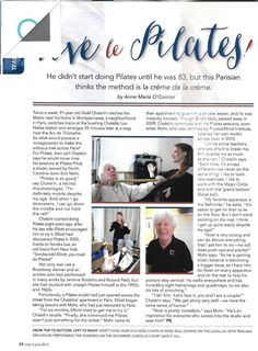 It's never too late to start taking care of your body! Just read about this 80 year old man who just started! Pilates@coe-dynamics.com www.Coe-Dynamics.com