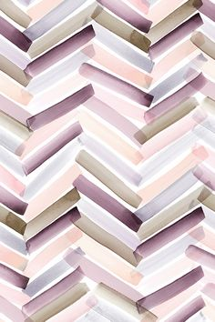 Chevron Stripes Autumn by crystal_walen - Transparent watercolor stripes in muted vintage tones on fabric, wallpaper, and gift wrap. Mauve, peach, lavendar, olive, and pink transparent stripes.