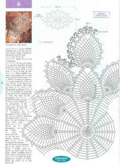 22 Ideas for crochet lace vest pattern charts Crochet Tablecloth Pattern, Free Crochet Doily Patterns, Crochet Gloves Pattern, Crochet Doily Diagram, Crochet Motif, Vest Pattern, Filet Crochet, Crochet Art, Crochet Home