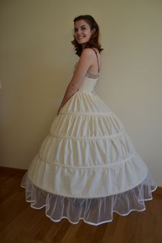 How to make a hoop skirt (crinoline) . Free tutorial with pictures on how to…