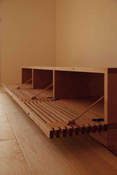 Ikea Furniture Hacks, Mod Furniture, Furniture Design, Tv Wall Design, Sofa Design, Woodworking At Home, Wood Counter Stools, Desk In Living Room, Wood Interiors