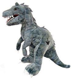 "JURASSIC WORLD Park Indominus Rex Dinosaur 12"" Plush Toy Gray Stuffed Animal NWT"