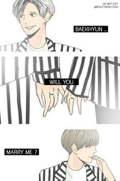 BaekYeol ChanBaek Love me right Fanart