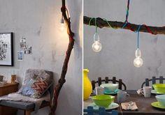 Leuchtender Ast im Haus - Schritt-für-Schritt: Lampe am Ast - [LIVING AT HOME.de]