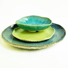 modern ceramic dinnerware place setting SECONDS von OneClayBead