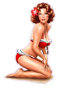 Red Head Red Swim Suit Pin Up Girl Decal Nostalgia Decals http://www.amazon.com/dp/B00L7YCWAE/ref=cm_sw_r_pi_dp_KOl.ub0KT85RN