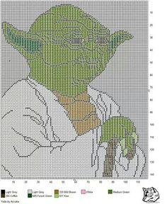 Yoda cross stitch