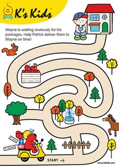 maze-L2-01 Activities For 5 Year Olds, Animal Activities For Kids, Mazes For Kids, Creative Activities For Kids, Toddler Learning Activities, Preschool Activities, Kids Learning, Brain Activities, Kindergarten Crafts