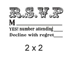 Custom Rsvp Rubber Stamp To Create Response By Stampoutonline 33 00