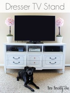 Dresser TV Stand...do we know how we're setting up our TV yet? I like the dresser idea