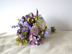 Wildflower Bouquet Bridal Bouquet Bouquet by blueorchidcreations, $230.00