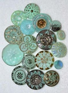 Pretty Turquoise Buttons
