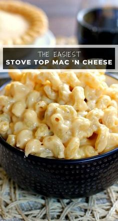 This Creamy Stovetop Macaroni and Cheese takes just minutes to prepare, contains two types of cheese, and is creamy, hearty, and delicious! Stovetop Mac And Cheese, Creamy Macaroni And Cheese, Macaroni Cheese Recipes, Mac And Cheese Homemade, Best Mac And Cheese Recipe Velveeta, Cooking Macaroni, Side Dishes Easy, Side Dish Recipes, Dinner Recipes