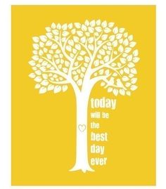 """Think this would be a great phrase to use for a sign at the reception! """"Today is our best day yet!"""" or """"Today is the best day ever! Positive Words, Girl Blog, Mellow Yellow, Best Day Ever, Powerful Words, Word Art, Digital Illustration, Good Day, Cool Words"""