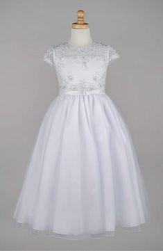 d35a4fc9b949d Lauren Marie Beaded Lace Bodice First Communion Dress (Little Girls & Big  Girls) | Nordstrom