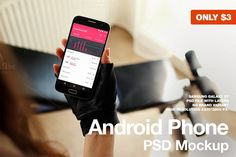 Android Phone Galaxy S7 Home Fitness by JÉSHOOTS.com on @creativemarket