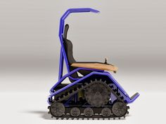 Der Ziesel Offroad Driving Machine  The Der Ziesel Offroad Driving Machine ($30,000) — the unlikely and bizarre offspring of an M1 Abrams battle tank and a Hoveround mobility scooter — is one serious vehicle, ready to handle snow, sand, mud, and grass.