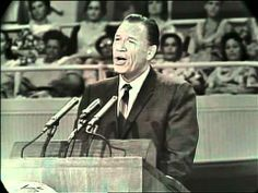 """George Beverly Shea singing """"I'd Rather Have Jesus"""" (music by GBS) 1965"""