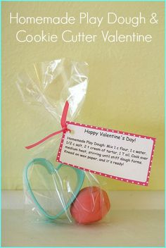 Valentine Ideas: Homemade Play Dough Valentine for Kids
