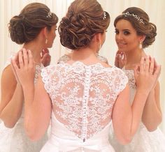 Noiva linda com brincos de perola #mairabumachar #bridecollection #noivasmb #noivas #bride