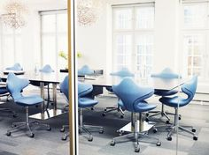 Scandinavian design chairs. Norwegian. Designed by Olav Eldøy and Atle Tveit. Variér Active, Varier,