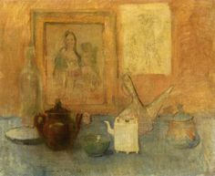 dappledwithshadow: Still Life with Table, Pablo Picasso 1906