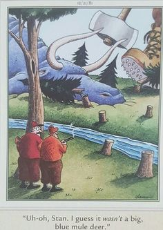 (Paul Bunyan and his blue ox)