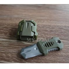 Army Green Outdoor EDC Stainless Steel Pocket Knife MOLLE Tool Webbing Buckle   eBay