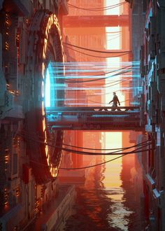 The Artist Inward Brings To Light Sublime Cyberpunk Worlds Cyberpunk Aesthetic, Cyberpunk City, Arte Cyberpunk, Futuristic City, Arte Sci Fi, Sci Fi City, New Retro Wave, 8bit Art, Environment Concept Art