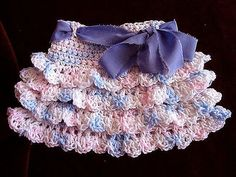 Ravelry: yt RUFFLED SKIRT, Make it any size pattern by Emi Harrington