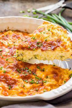 This savory cabbage casserole is loaded with cabbage and herbs and the batter makes it almost quiche-like. The golden cheesy crust takes this cabbage casserole over the top with a slight cheese pull when it's hot and fresh of the oven. Easy, excellent Russian Cabbage Pie Recipe!