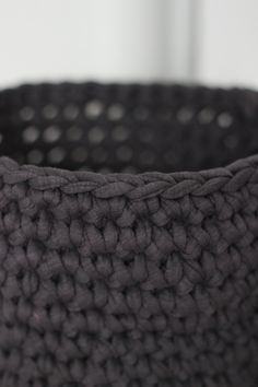 crocheted basket tutorial