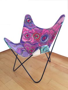 Silla Mariposa pintada a mano por CROQUIS
