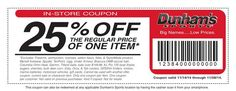 Dunhams Sports In-Store Coupon