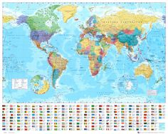 Decorate your walls with a map wallpaper mural or flag wallpaper mural. From conference rooms to kids' rooms, our wallpaper mural maps fit any décor. World Map Mural, World Map Poster, Map Posters, World Political Map, Map Nursery, Nursery Room, National Geographic Maps, Kunst Poster, Map Pictures