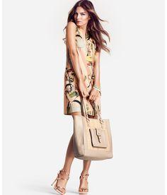 dress and purse.