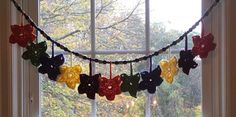 Fall leaves garland fall decor fall party by BsCozyCottageCrafts