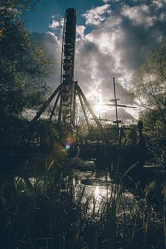 abandoned amusement park