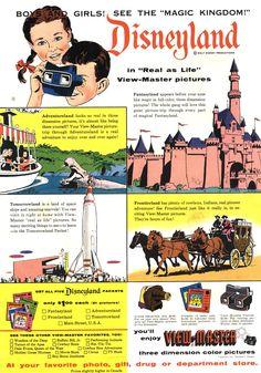 Vintage Disney Parks — gameraboy: 1955 ad for the Disneyland...