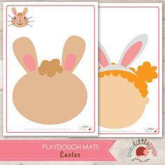 Easter Playdough Mats INSTANT DOWNLOAD by BUSYLITTLEBUGSshop, $7.95