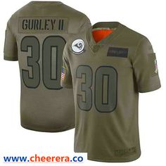 Nike Los Angeles Rams #30 Todd Gurley II Camo Men's Stitched NFL Limited 2019 Salute To Service Jersey