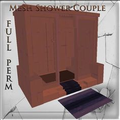 Mesh Shower Bathroom build full perm 6 impact