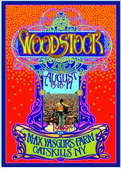 woodstock 45th anniversary images for fb   Psychedelic Woodstock 45th anniversary poster