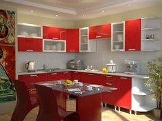 22 Ideas To Create Stunning Red And White Kitchen Design