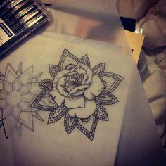 #mandala #rose