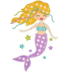 Mermaid Applique Shirt  Personalized Embroidery  by RockintheTutu