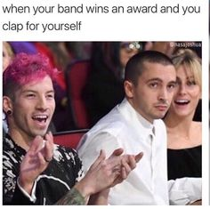 Not to mention you wore your band's t-shirt just for the extra support. I freaking love Josh Dun.
