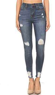 Celebrity Pink Plus Size Ankle Straight Mega Cuff Jeans