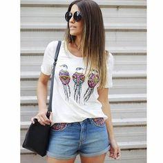 Closet Lit: Shorts Jeans e Tee Shirt